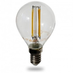 LED Glühlampe - E14, 4W, P45, warmweiß